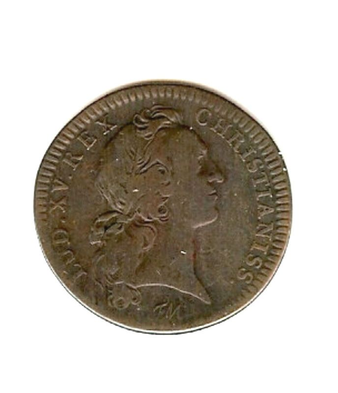 Coin, France, 1744, LUD XV Rex, Christianiss