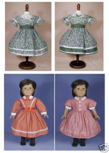 ADDY 1860s Civil War style dress pattern 18 AG Doll