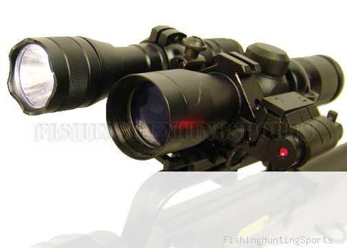 4x30 Rifle Scope Mount Ring Flashlight laser sight set