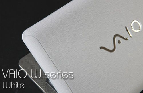 Sony VAIO W Series Laptop Cover Skin   White Leather