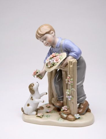 Cosmos Gifts A Boys Best Friend Porcelain Figurine NEW