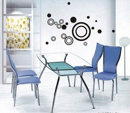 various colors) Circles Decor Mural Art Wall Sticker Decal S006