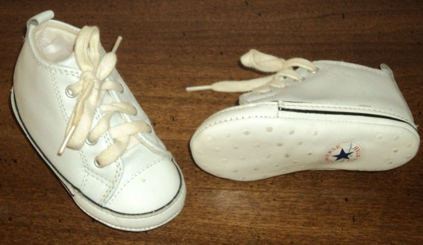 WHITE MY FIRST ALL STAR BABY BOOTIES GIRLS & BOYS SIZE 3 USA