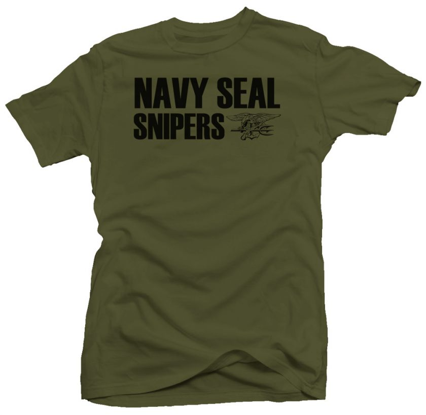Navy Seal Snipers US Military USA Spec Ops New T shirt