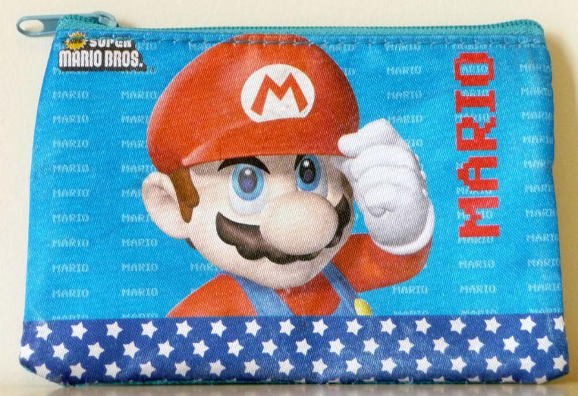 Super Mario Bros red hat blue Zipper Coin Purse Bag