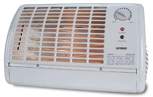 Optimus Portable Fan Forced Radiant Heater Winter Room Space Warm w