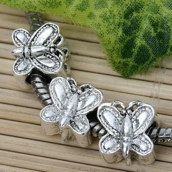LOT 20p Tibetan Silver Butterfly* Beads Findings Charms