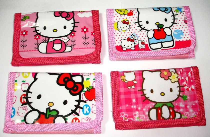 NEW GIRL HELLO KITTY Tri fold Wallet for KIDS