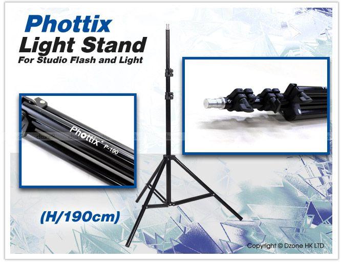 Phottix High Quality Light Lighting Stand studio Flash P 190 580 SB900