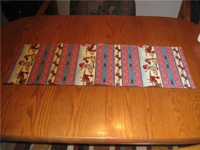 Handmade Table Runner tractor farm Boys Room dresser